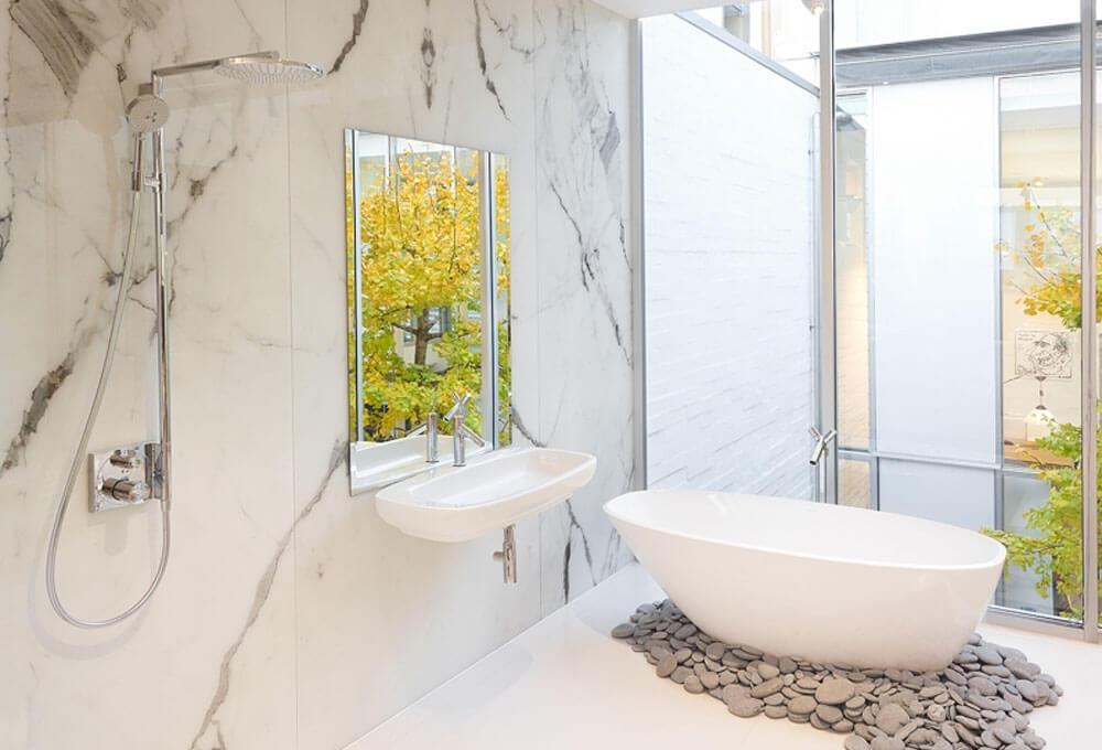 Öztaş Mermer Granit - Calacatta Beyaz Mermeri