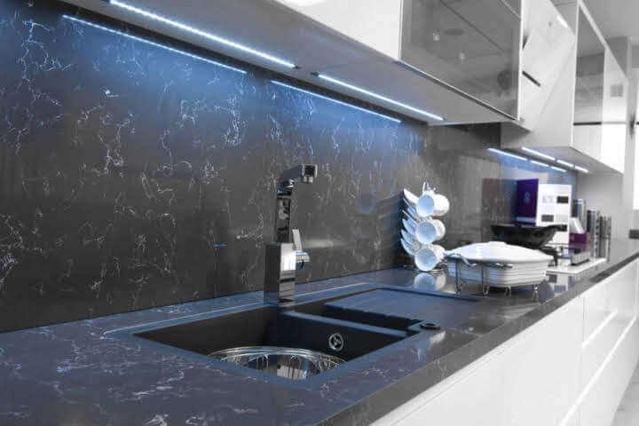 Öztaş Mermer Granit Ankara Mutfak Tezgahı Siyah